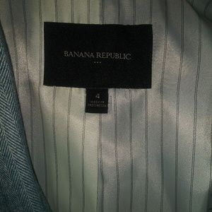 Banana Republic Factory Jackets & Coats - Banana Republic teal Herringbone Blazer. Size 4